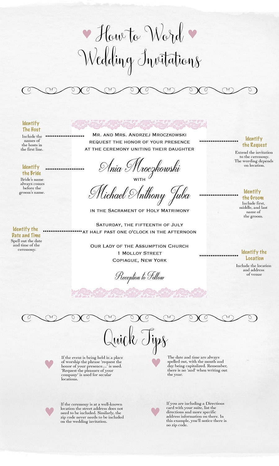 5 Basics To Wording Wedding Invitations