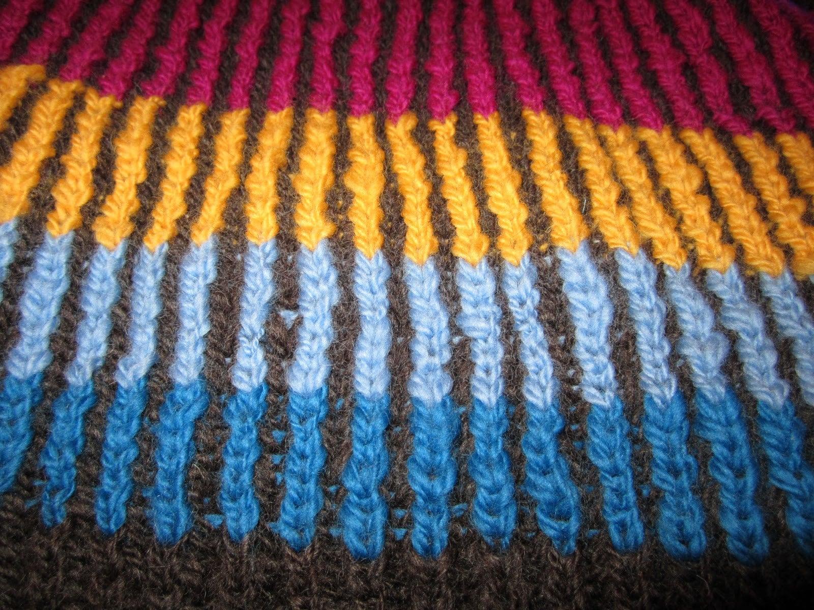 How to knit a two-color Brioche Stitch; Two-color Brioche Scarf