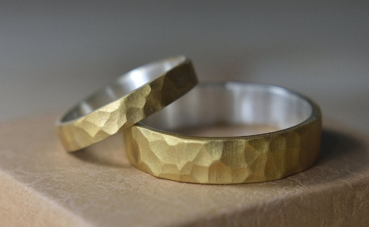 Gold_Plated_Hammered_Rings