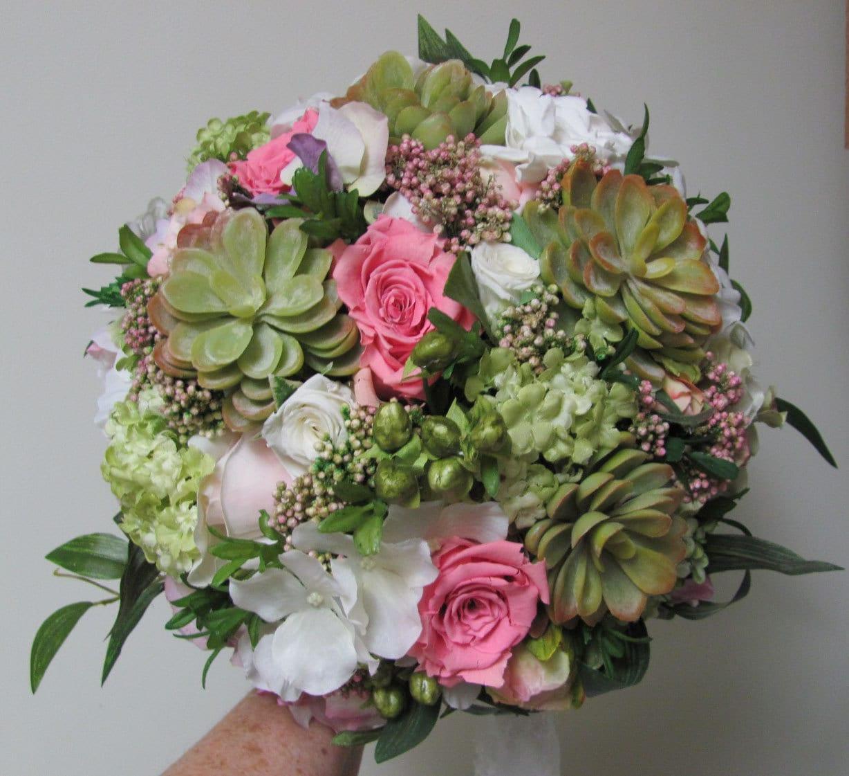 Succulent Bridal Bouquets, Popular Succulent Wedding Bouquets
