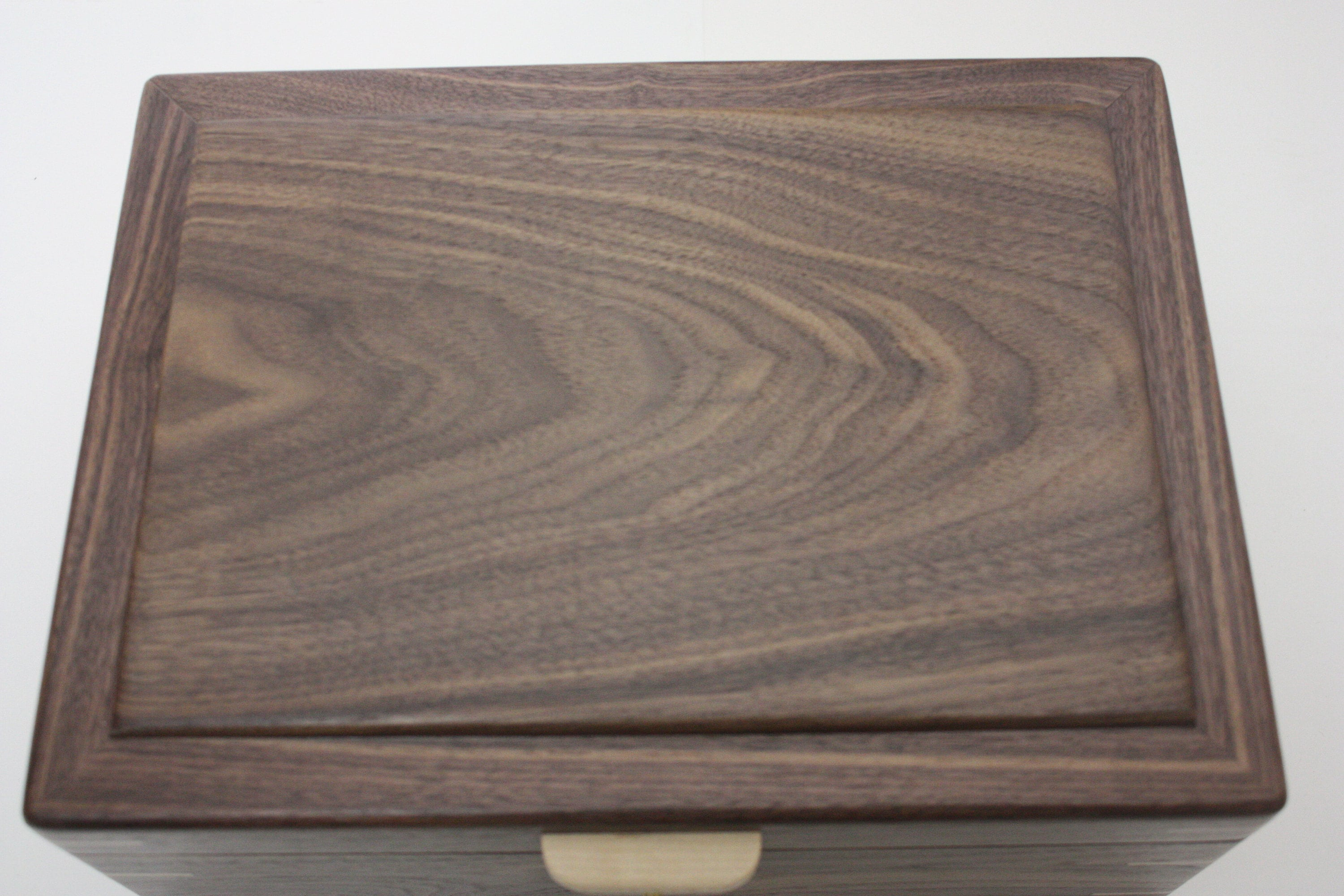 Handmade Locking Black Walnut Wood Box
