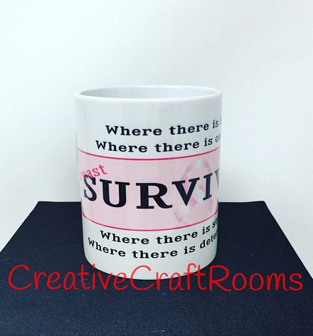 Breast Cancer Survivor Mug, Pink October