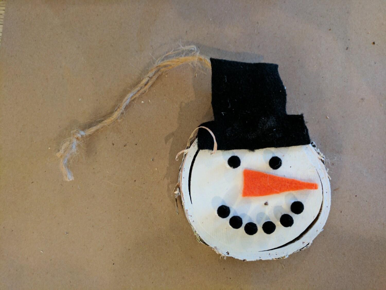 Adorable snowman ornament