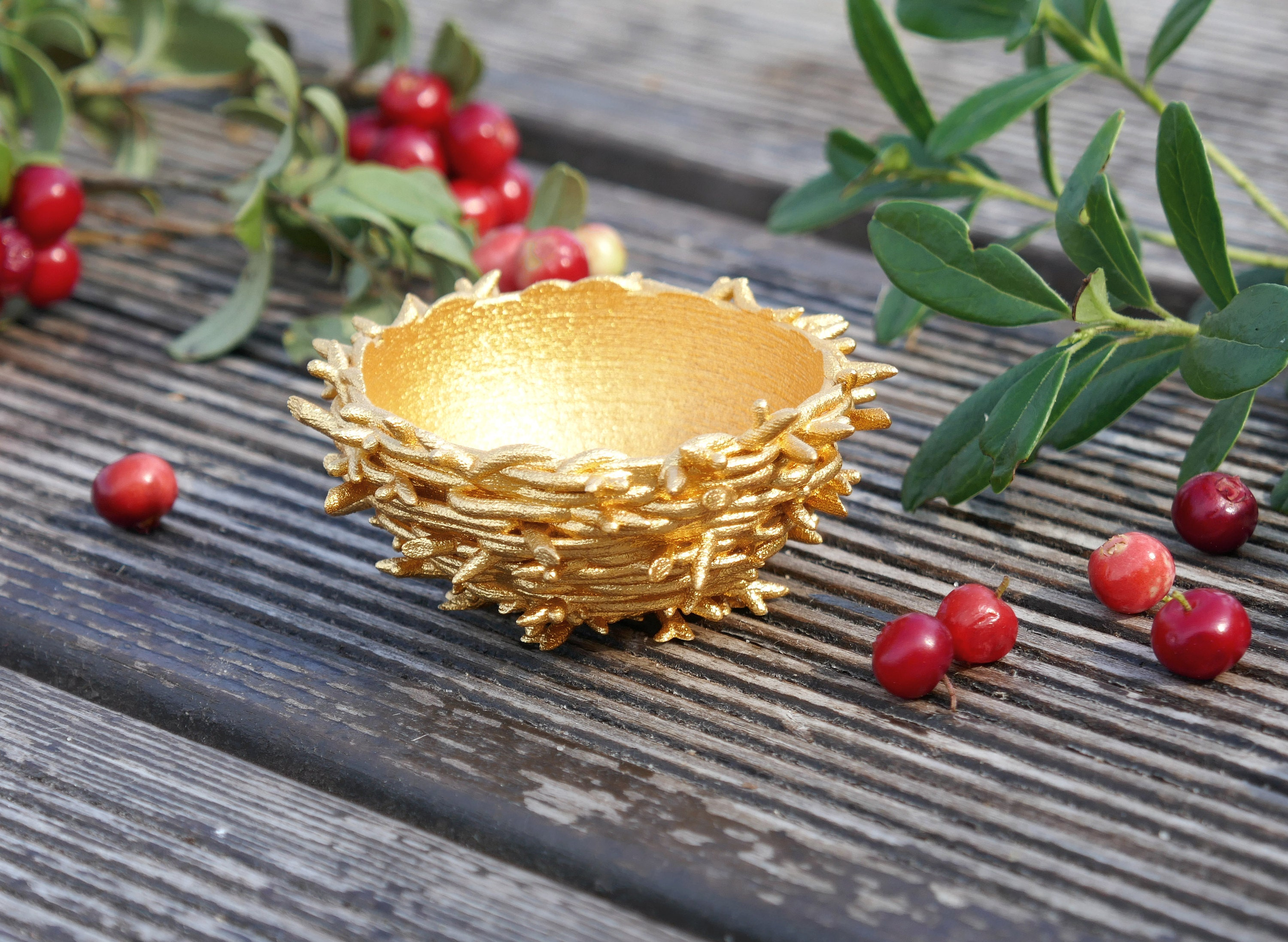 Gold Nest - 3D printed in stainless steel and gold plated