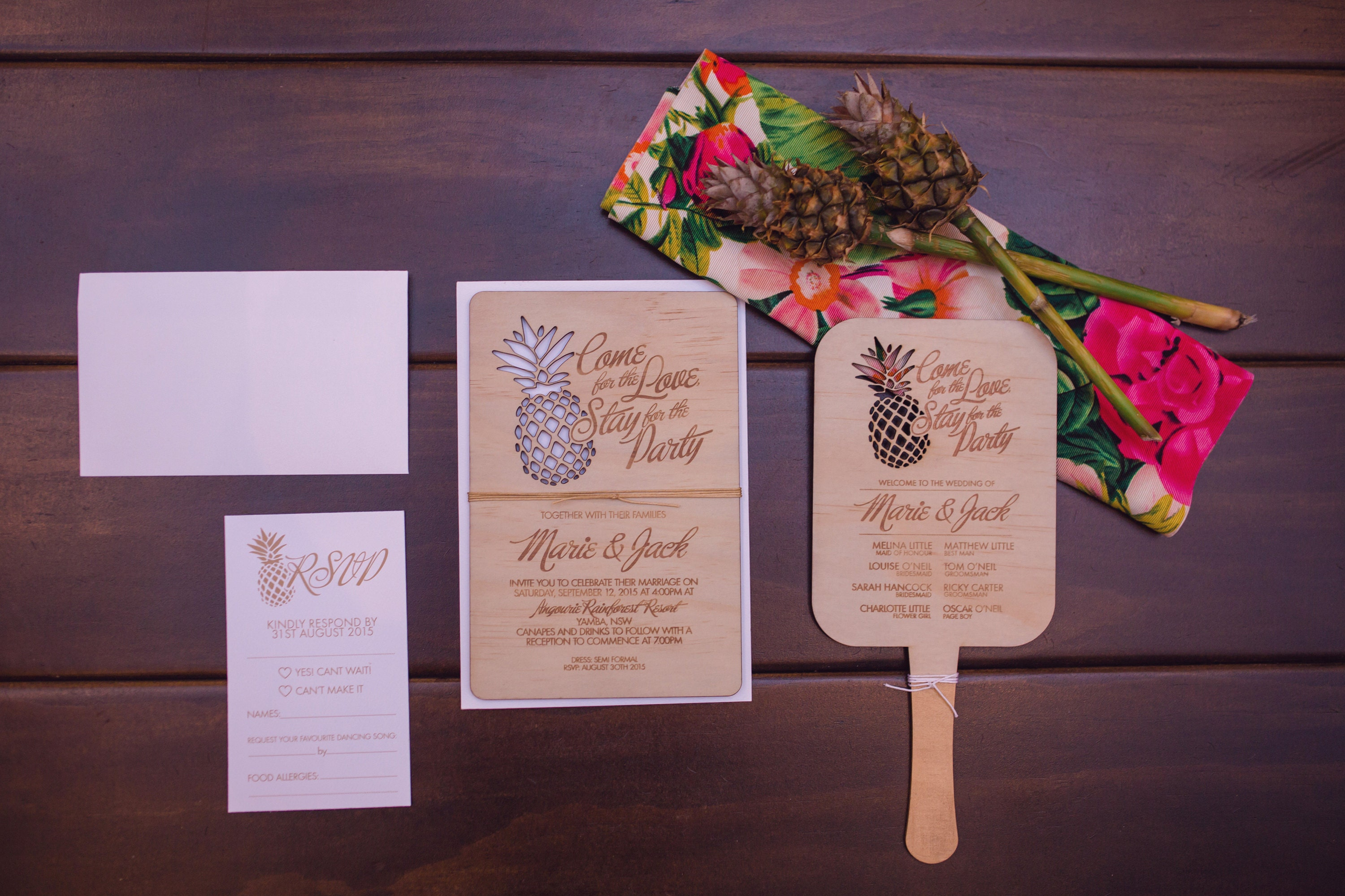 Wood Wedding Invitation - The Rustic at Heart