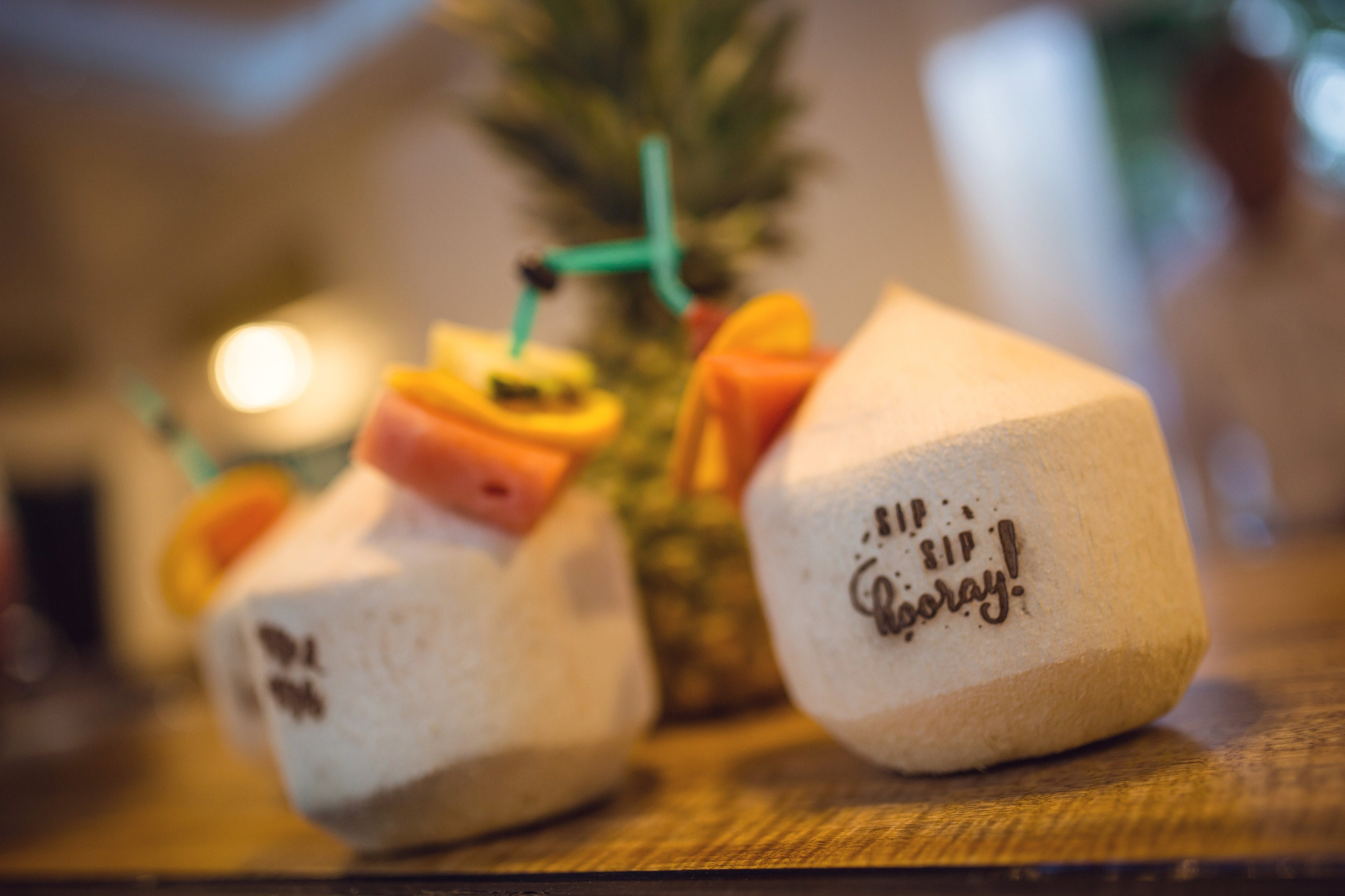 Customised Coconuts - Wedding coconuts