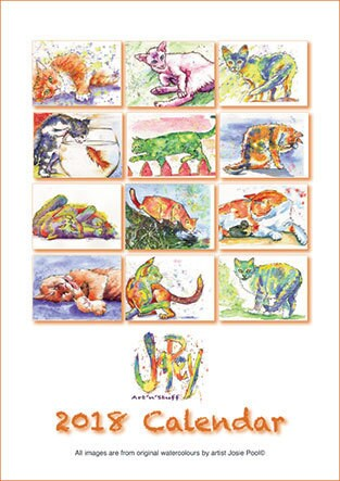 Front Cover Cat Calendar 2018