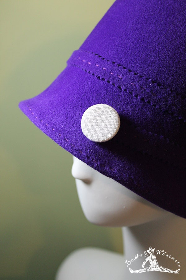 purple deep bucket cloche