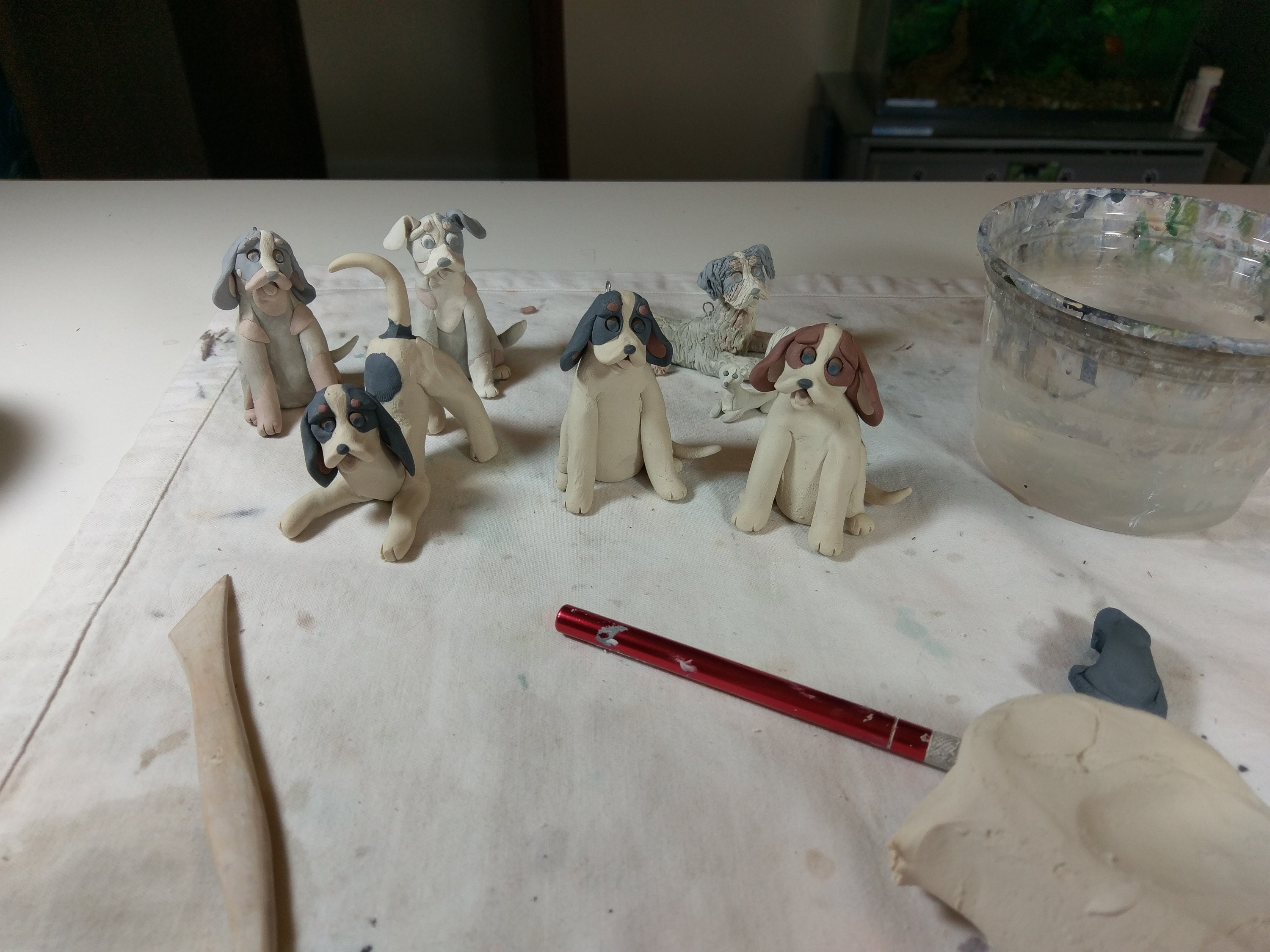 sculpting the Hounds
