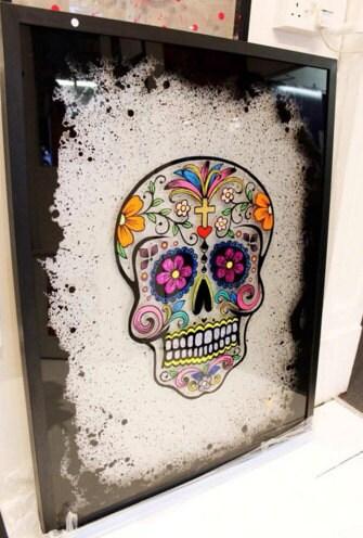 CJTaylord Art Skull Painting Stolen 30th January 2018