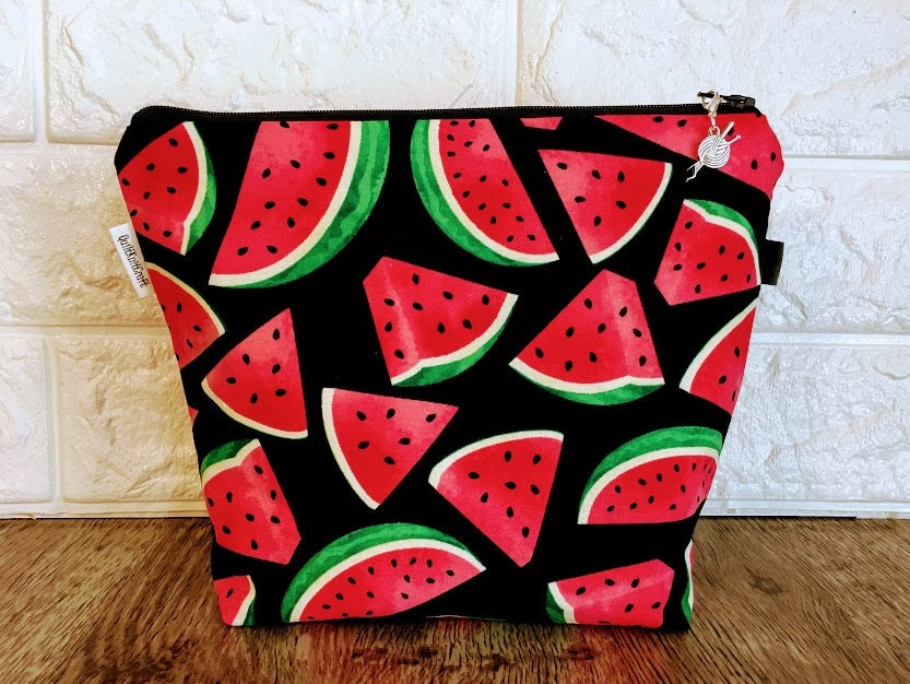 Sock Size Watermelon Project Bag