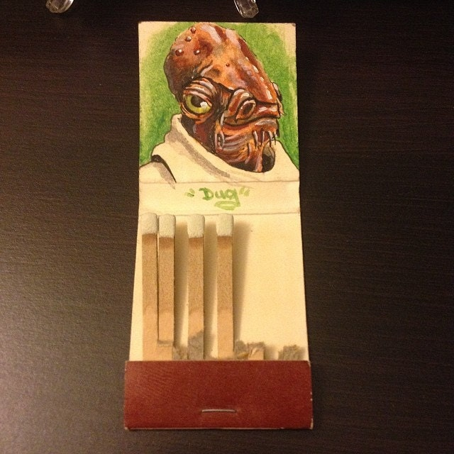 ITS A MATCH! 1.5x 1.5 acrylic on vintage matchbook