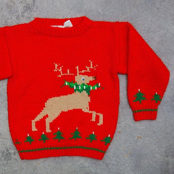 Kids Reindeer Ugly Christmas Sweater