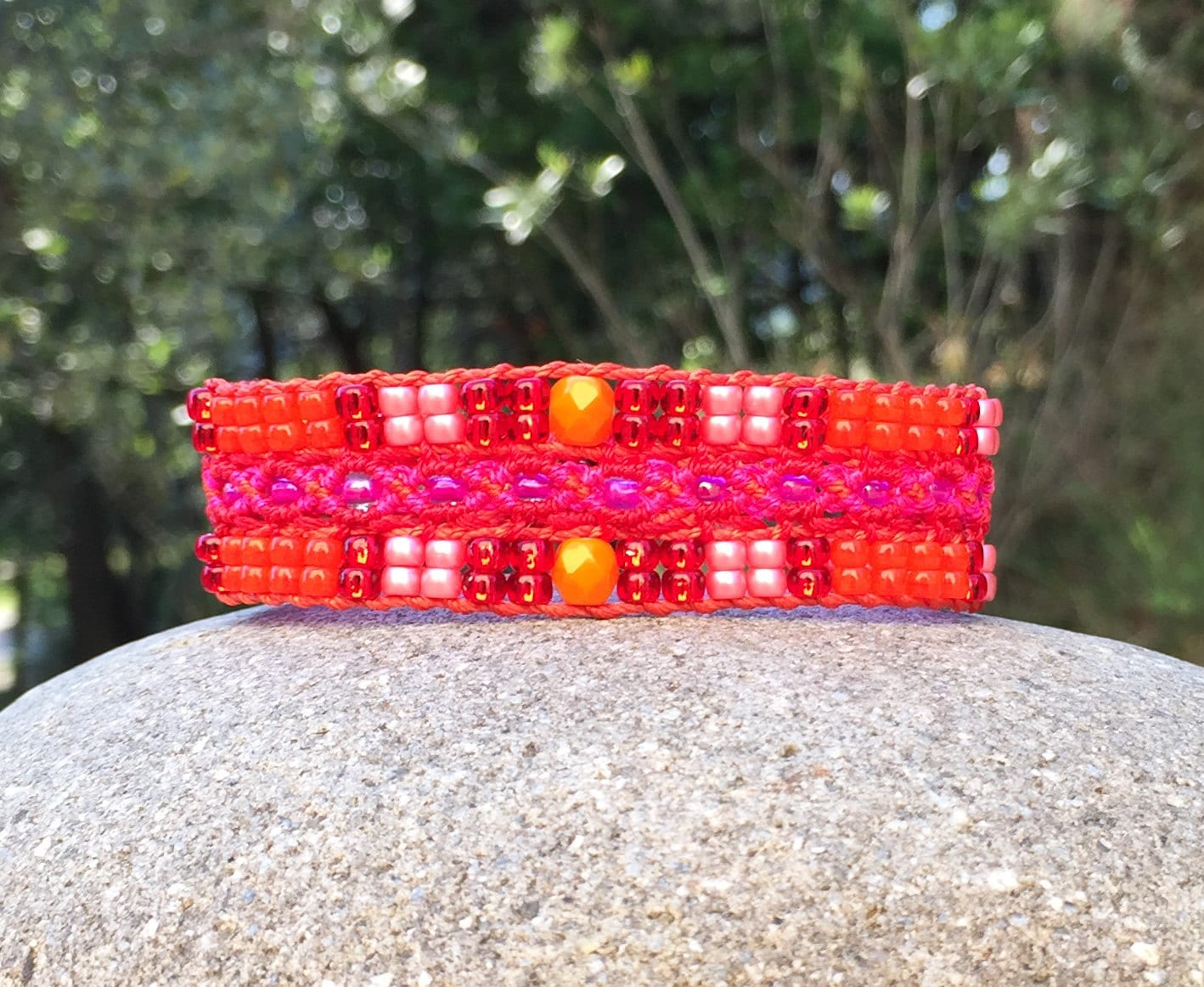 Bracelet LAixois orange et rose