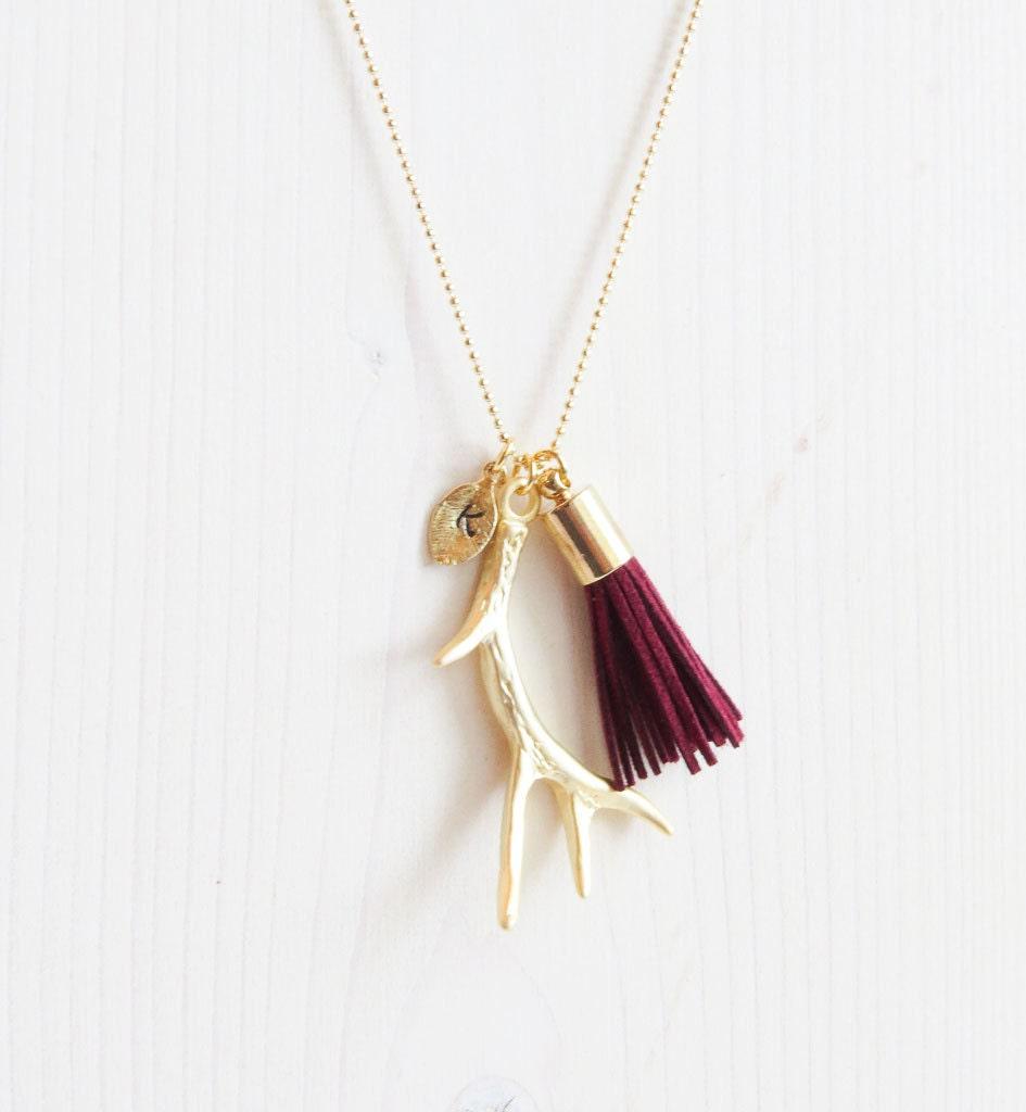 Antler tassel Necklace