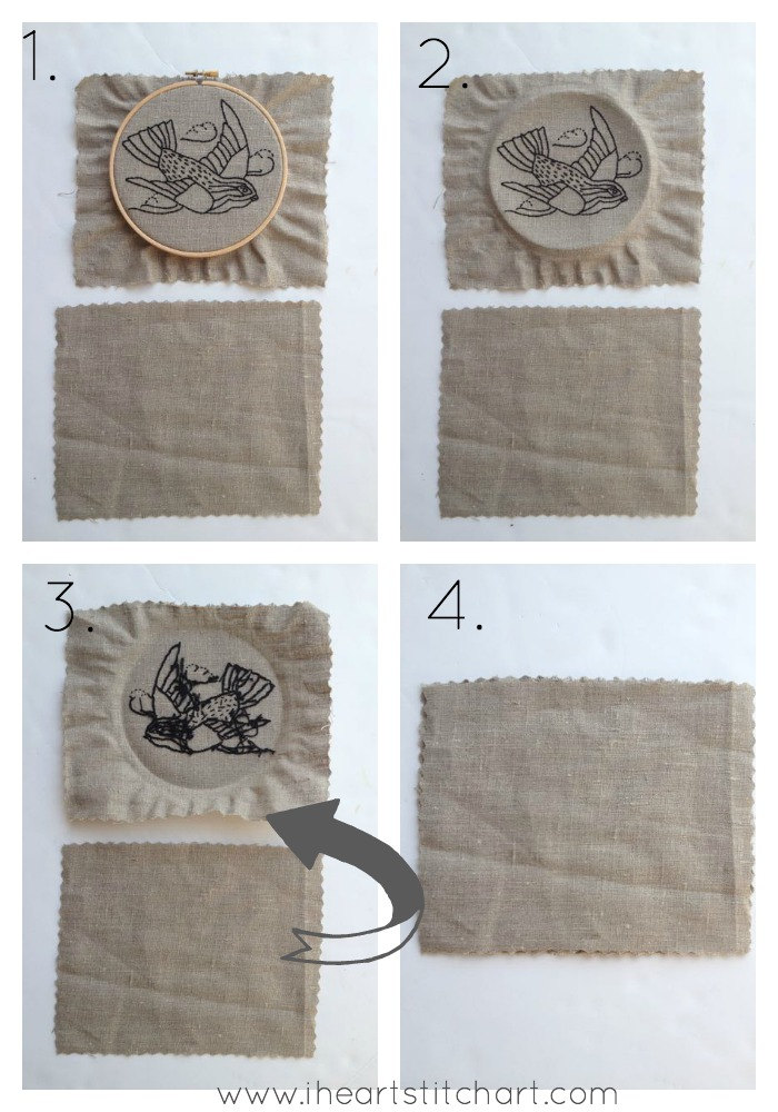How to: back an embroidery hoop (the easy way)
