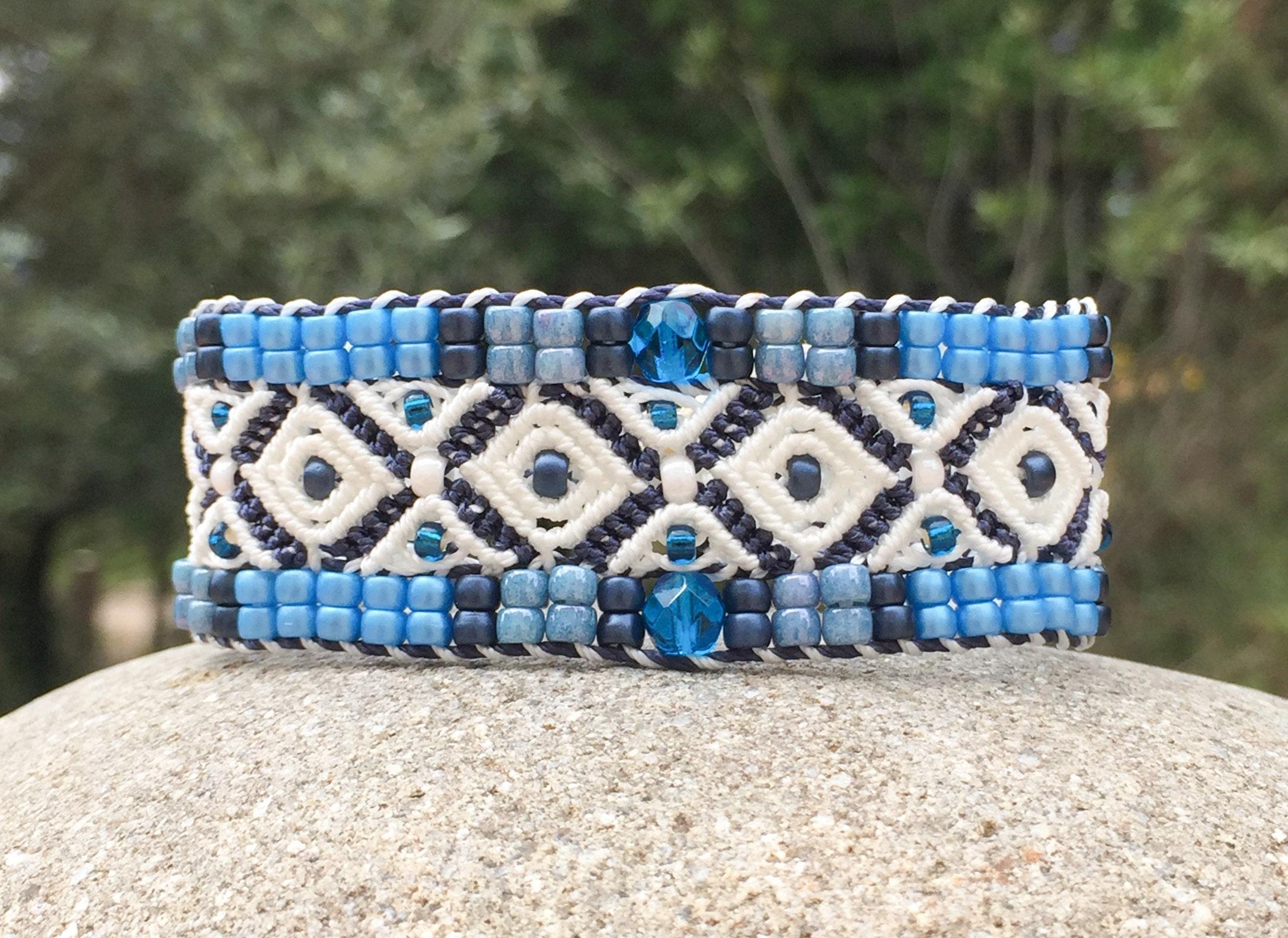 Bracelet Le Cassidain bleu et blanc