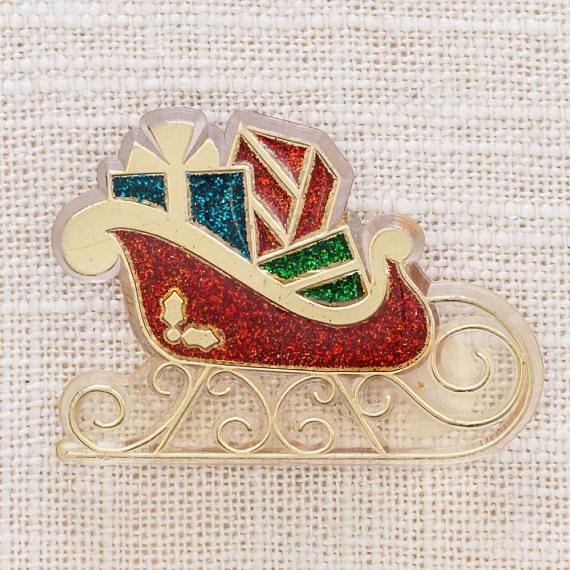Glitter sleigh brooch