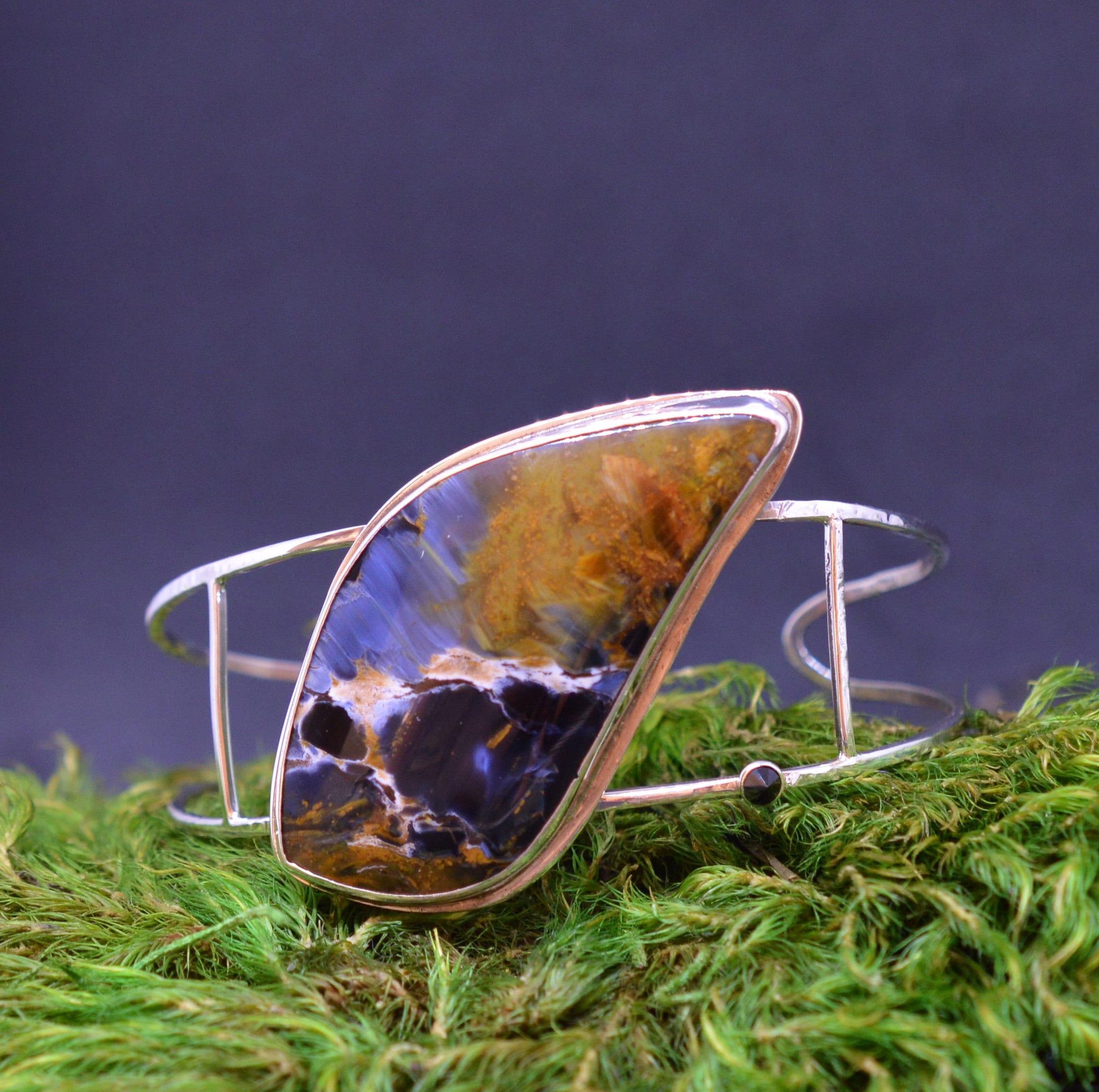 African Pietersite Cuff Bracelet