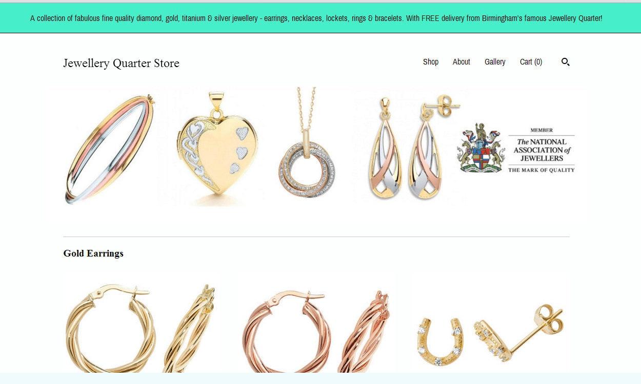 Jewellery Quarter Store Birmingham Homepage