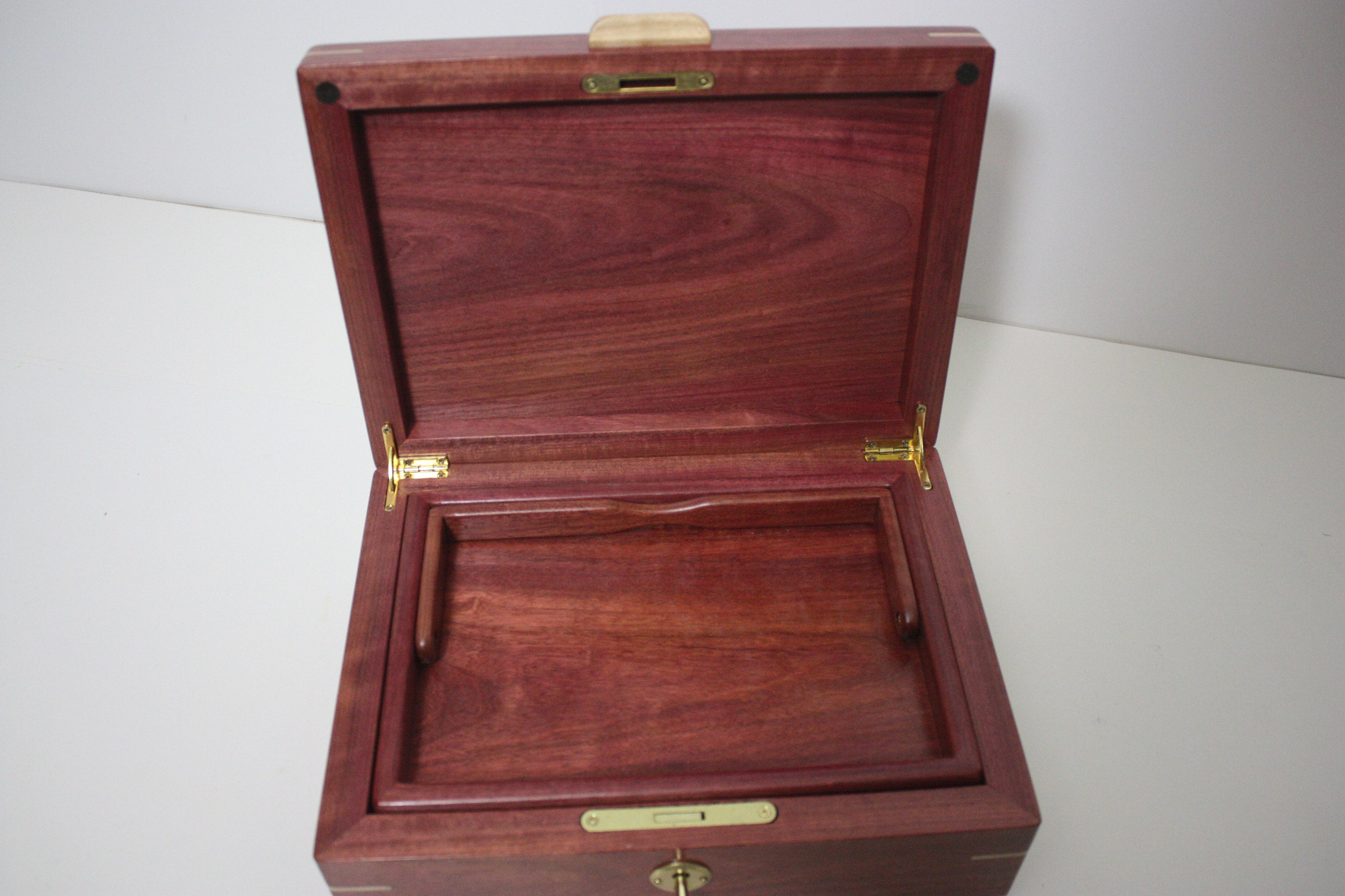 Purple Heart Box with Lift Out Tray