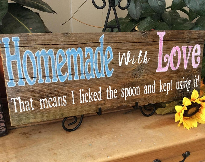 Rustic kitchen sign
