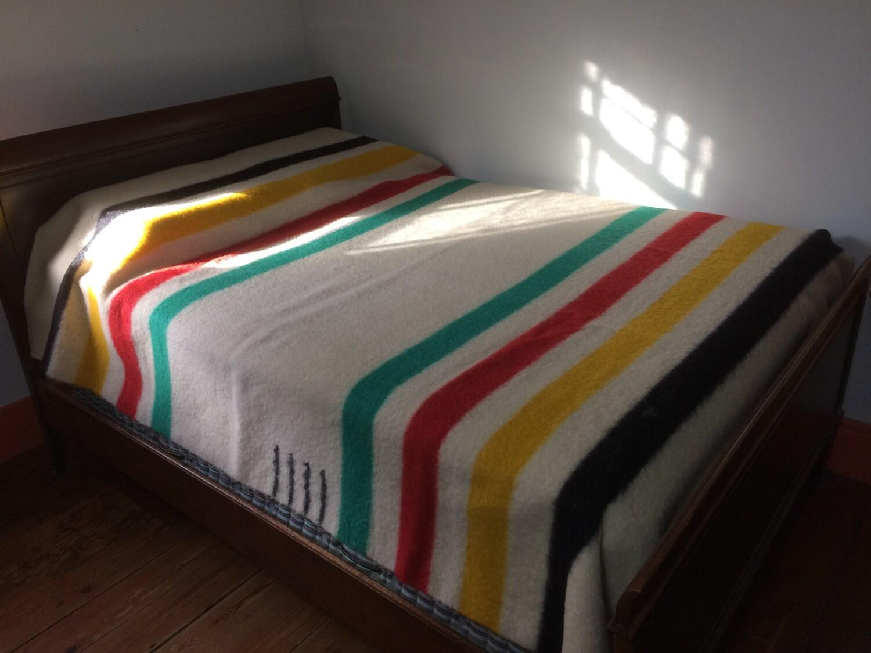 Vintage 4 point HBC striped wool blanket