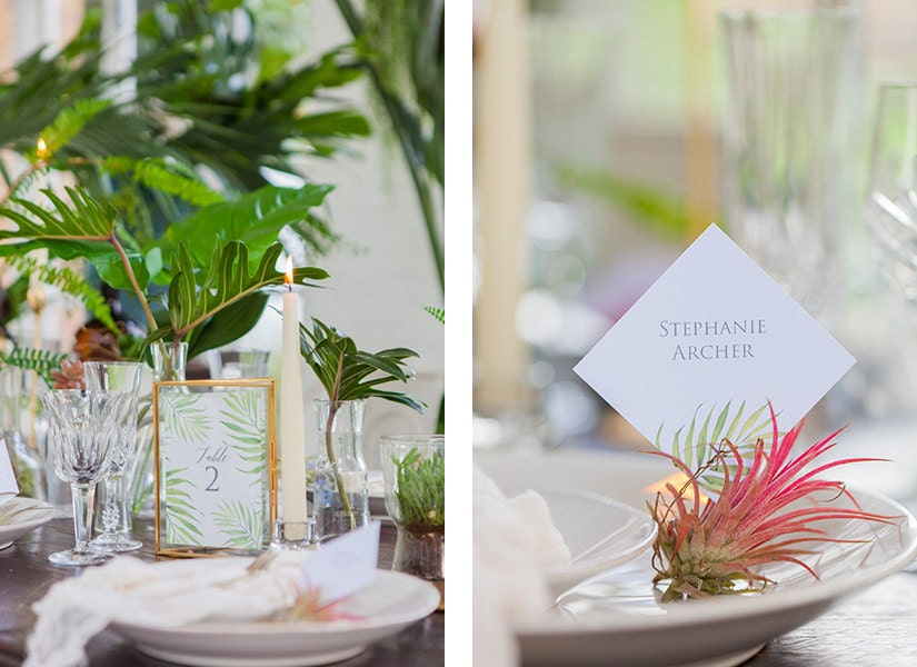 Flamboyant Invites Coco Palm Reception Stationery