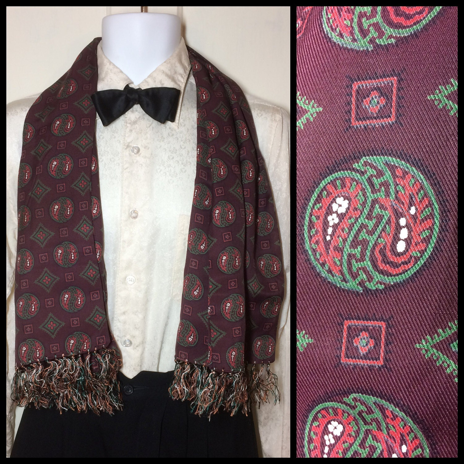 Vintage ascots opera scarves make great gifts
