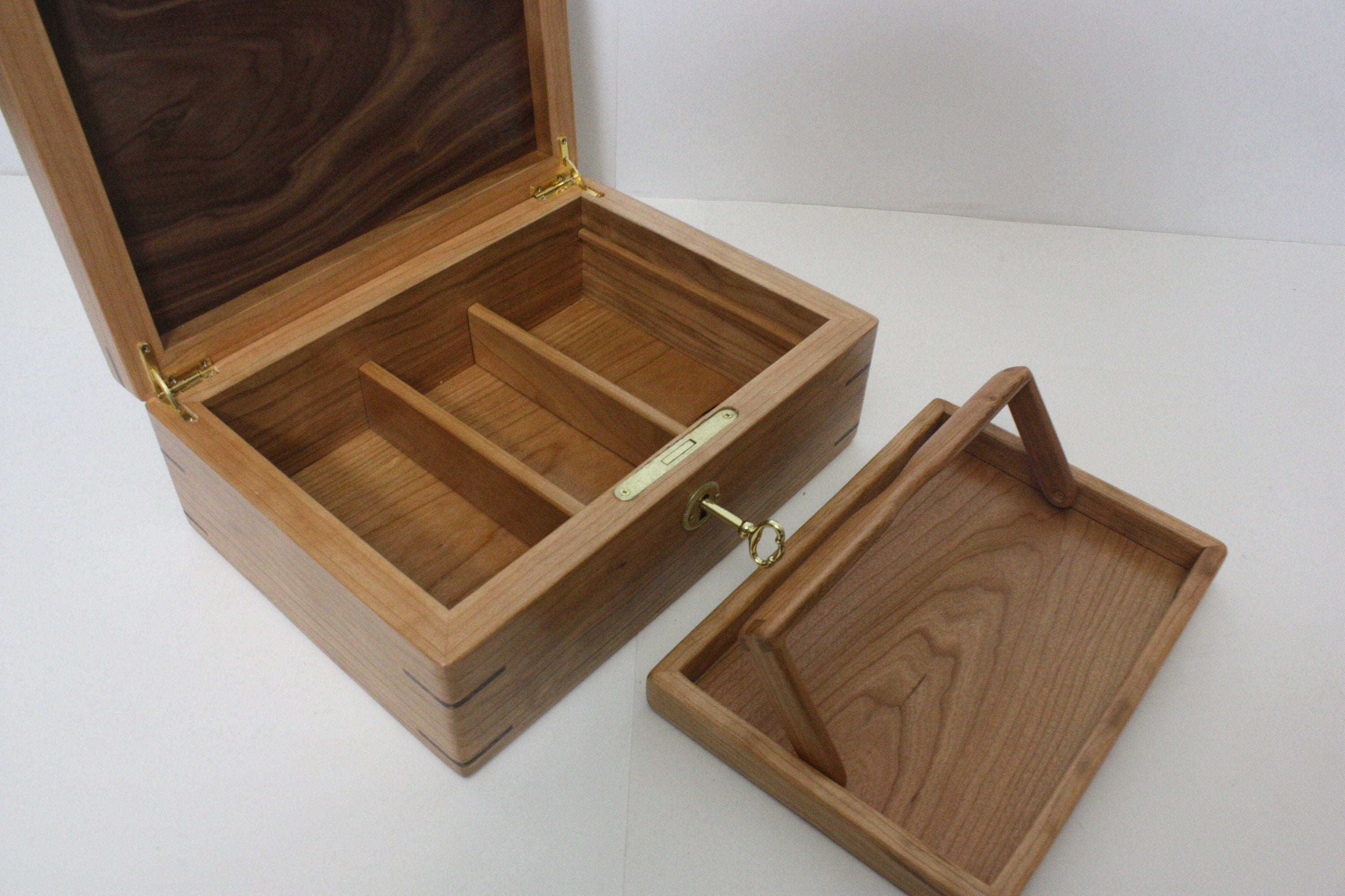 Cherry Wood Jewelry Box For Sale