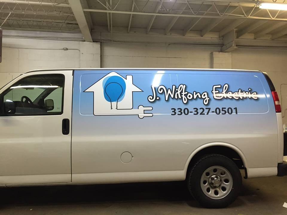 Partial Van Wrap for J. Wilfong Electric