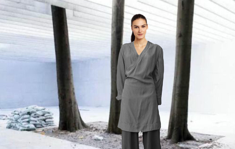 Tencel tunic dress; https://www.moyzoorganics.com/listing/555552784/tencel-wrap-tunic-dress-tencel-overslag
