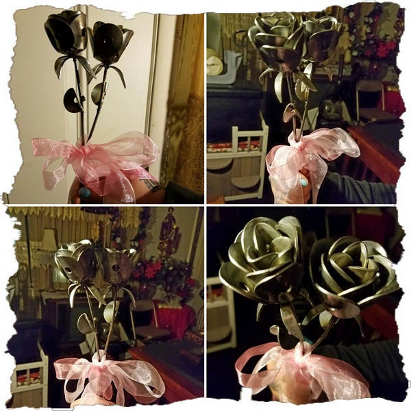 Roses made from Scrap Metal