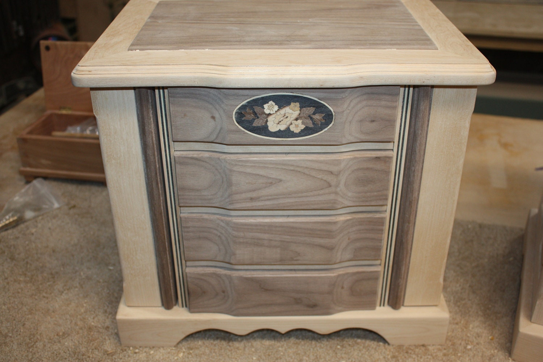 Large Birch and Walnut Handmade Jewelry Box