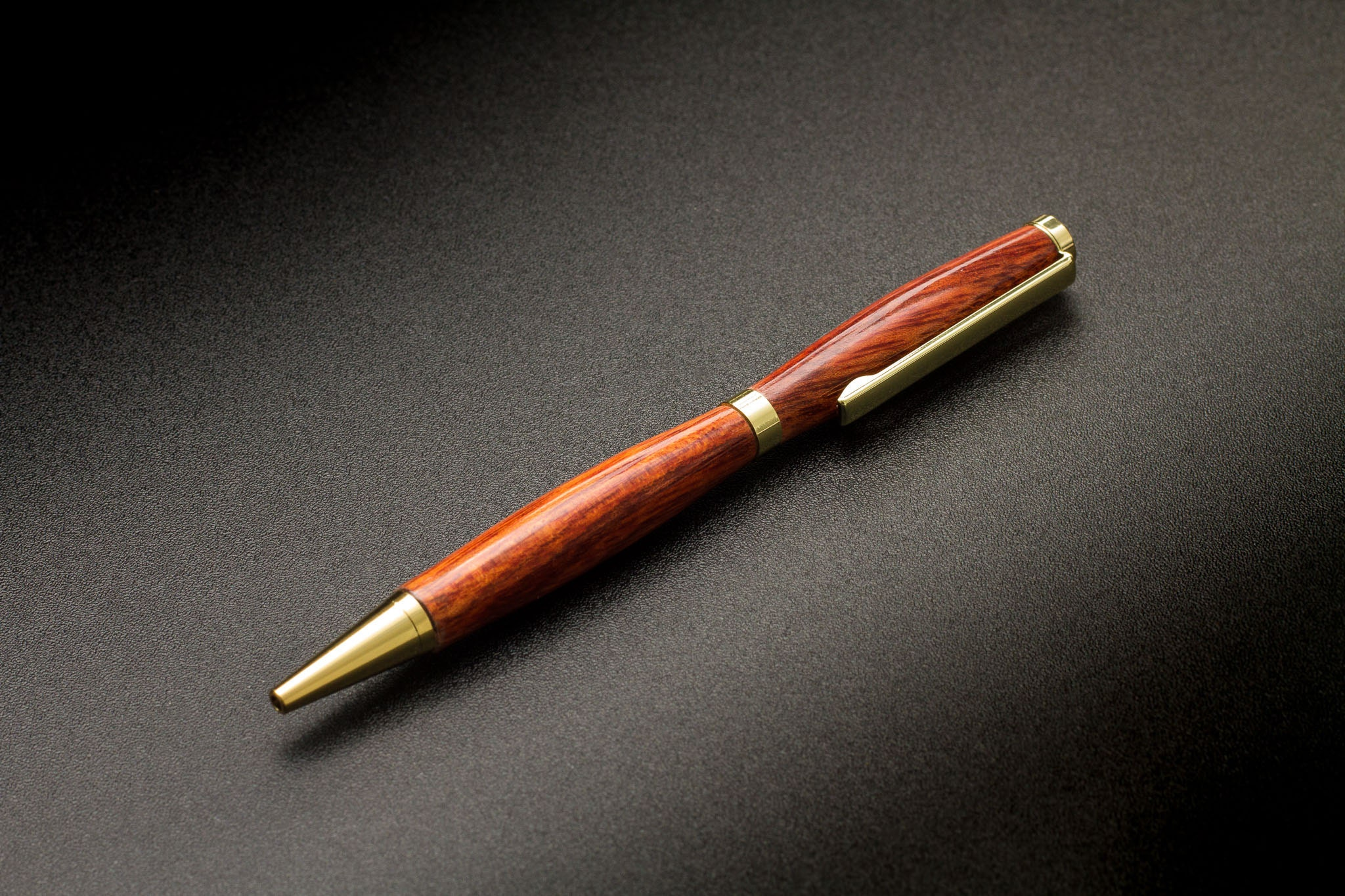 Bloodwood on a slimline pen by The Acadian.