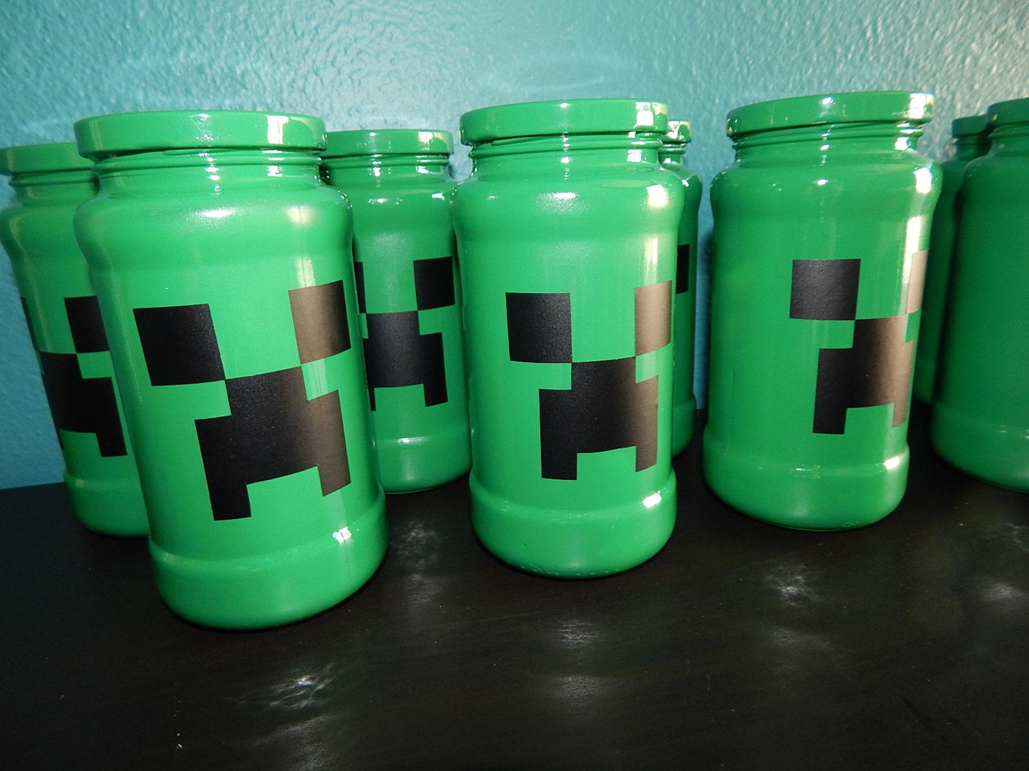 creeper mason jar piggy bank