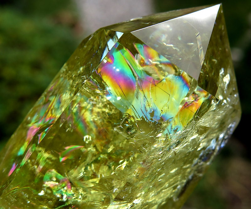 A rainbow Lemon Quartz, China