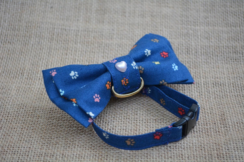 Blue cotton bow tie