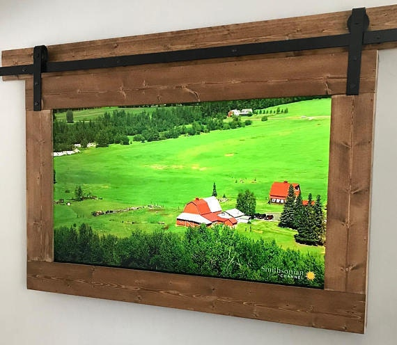 TV frame made with modern materials