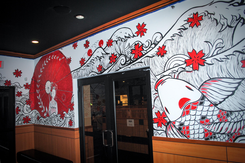 Japanese Mural - Tokyo Restaurant by Caroline Truong