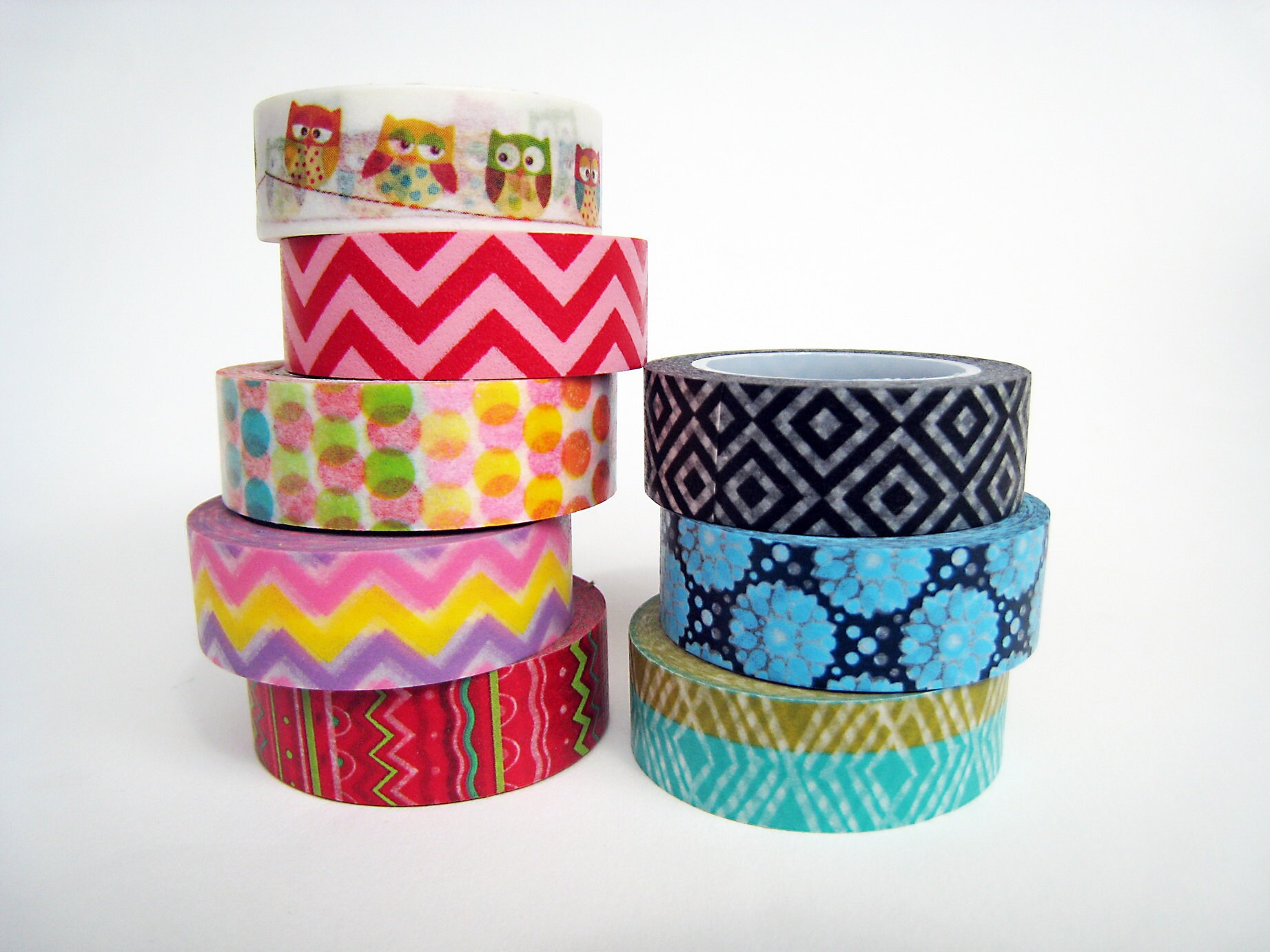 Colorful washi tapes make packaging even brighter!