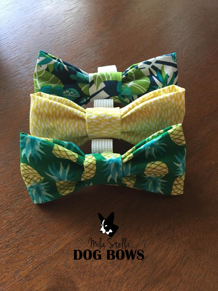 Pineapple & Palm Collection dog bows