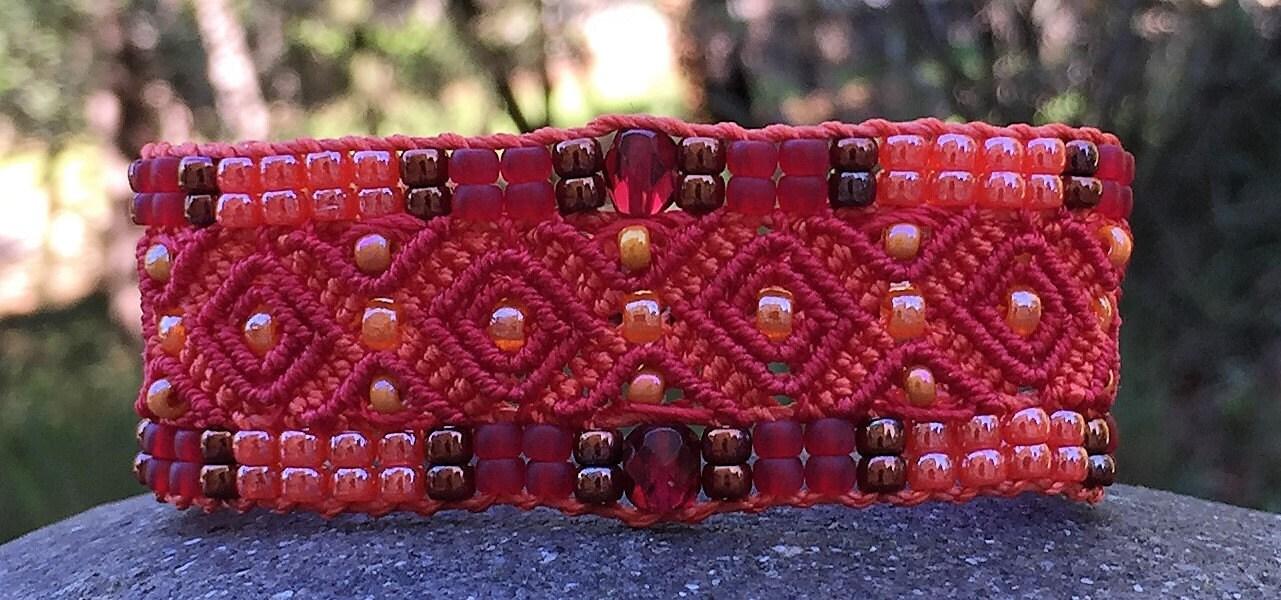 Bracelet Le Cassidain rouge et orange