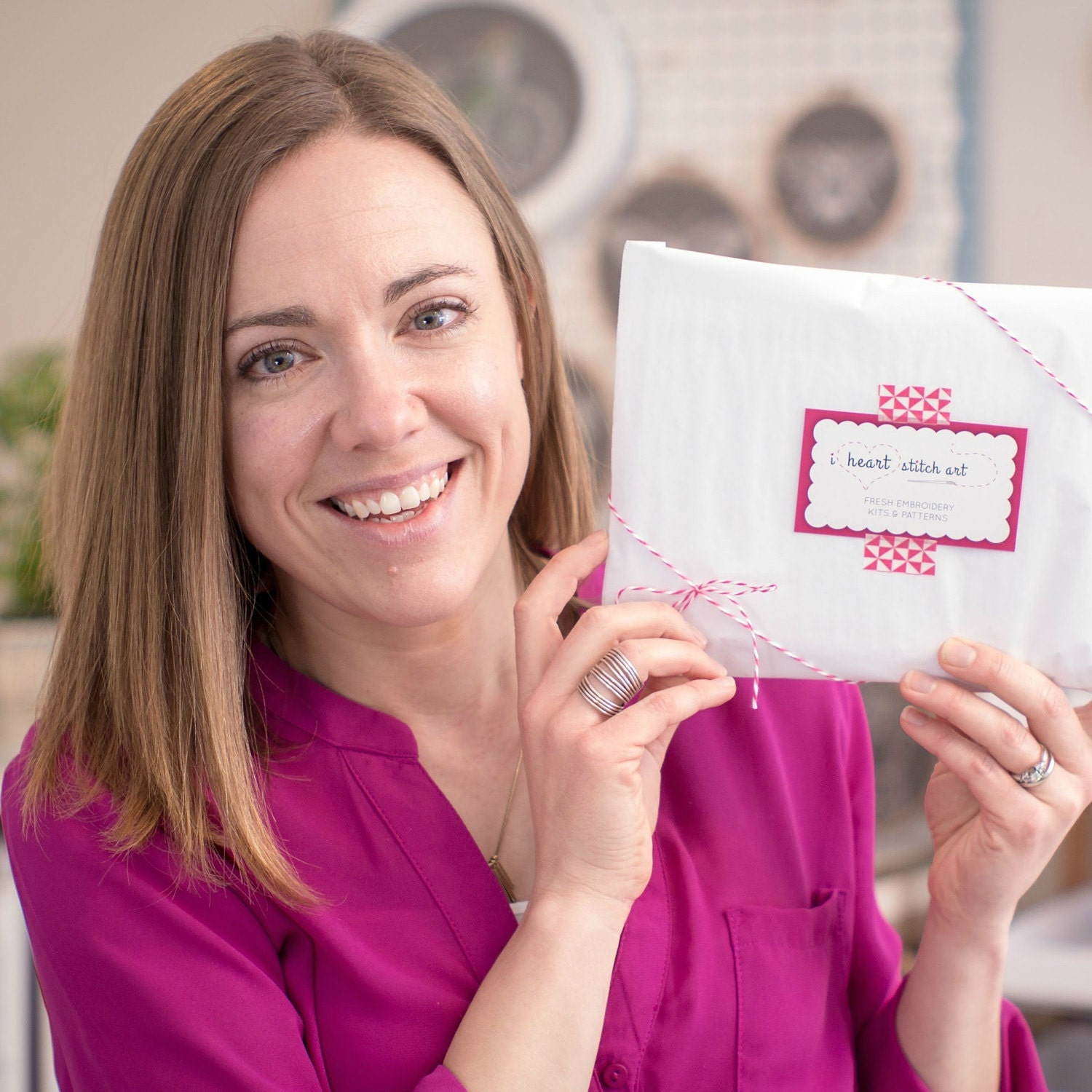 Meet Sarah - creator and designer of all things I Heart Stitch Art!
