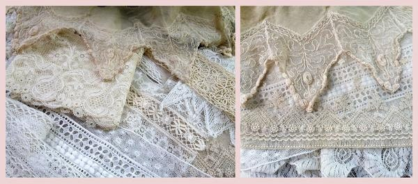 Part of my vintage and antique lace trims collection.