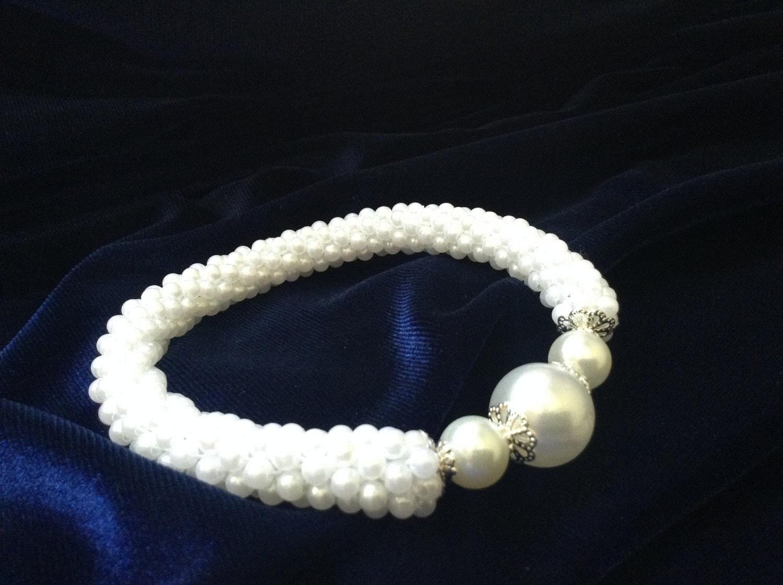 Woolley Weaves White Wedding Bracelet now on sale