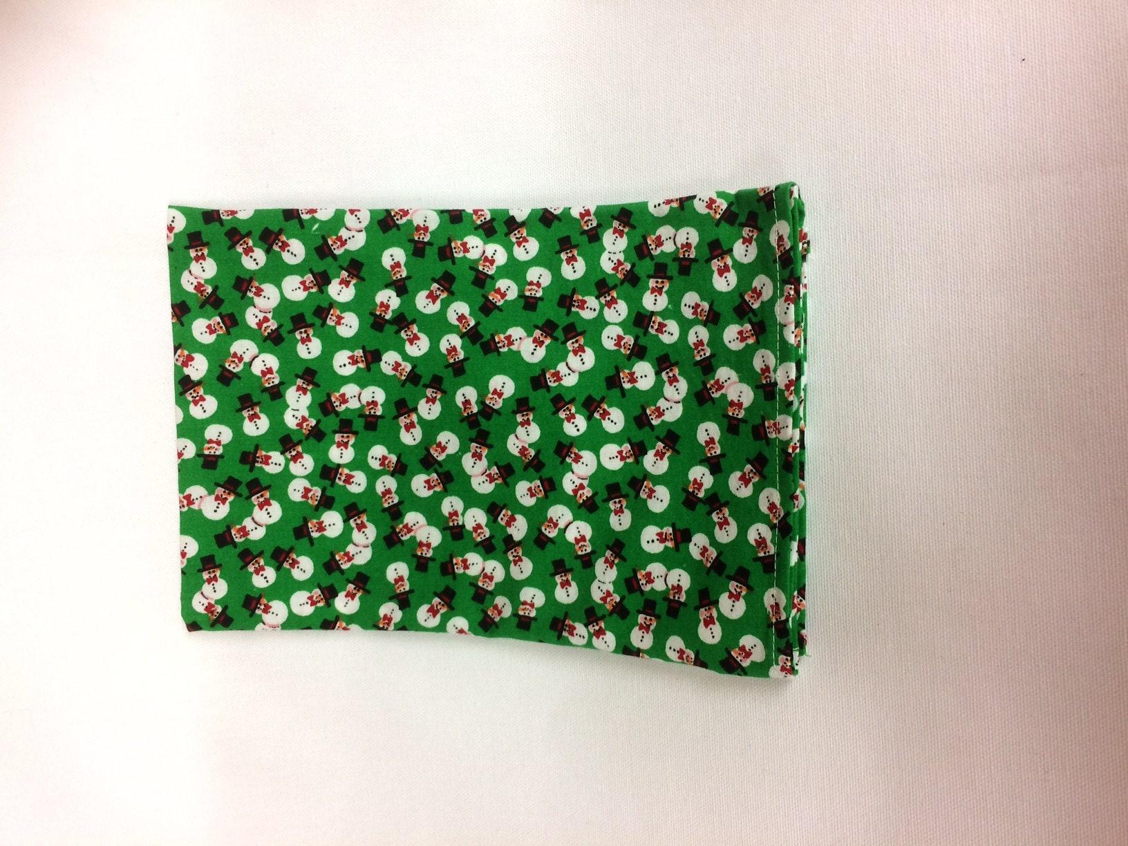 Green Snowman napkin