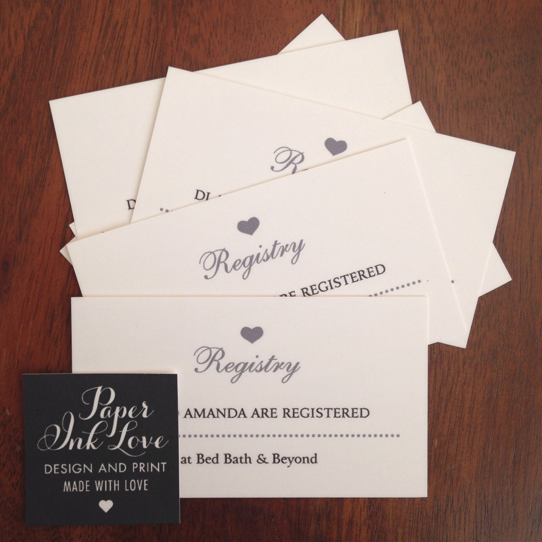 wedding registry card