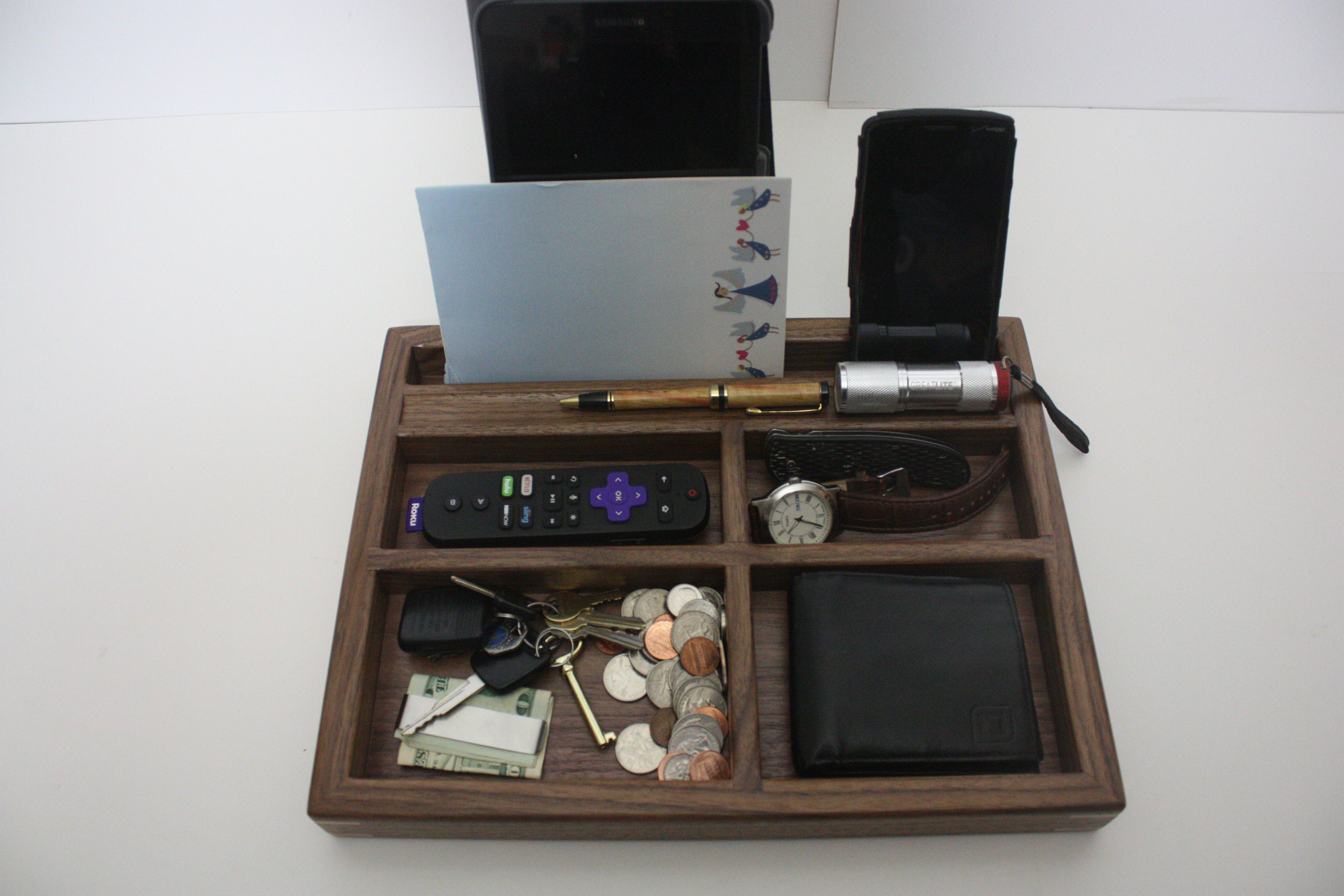 Mens Valet Tray Box