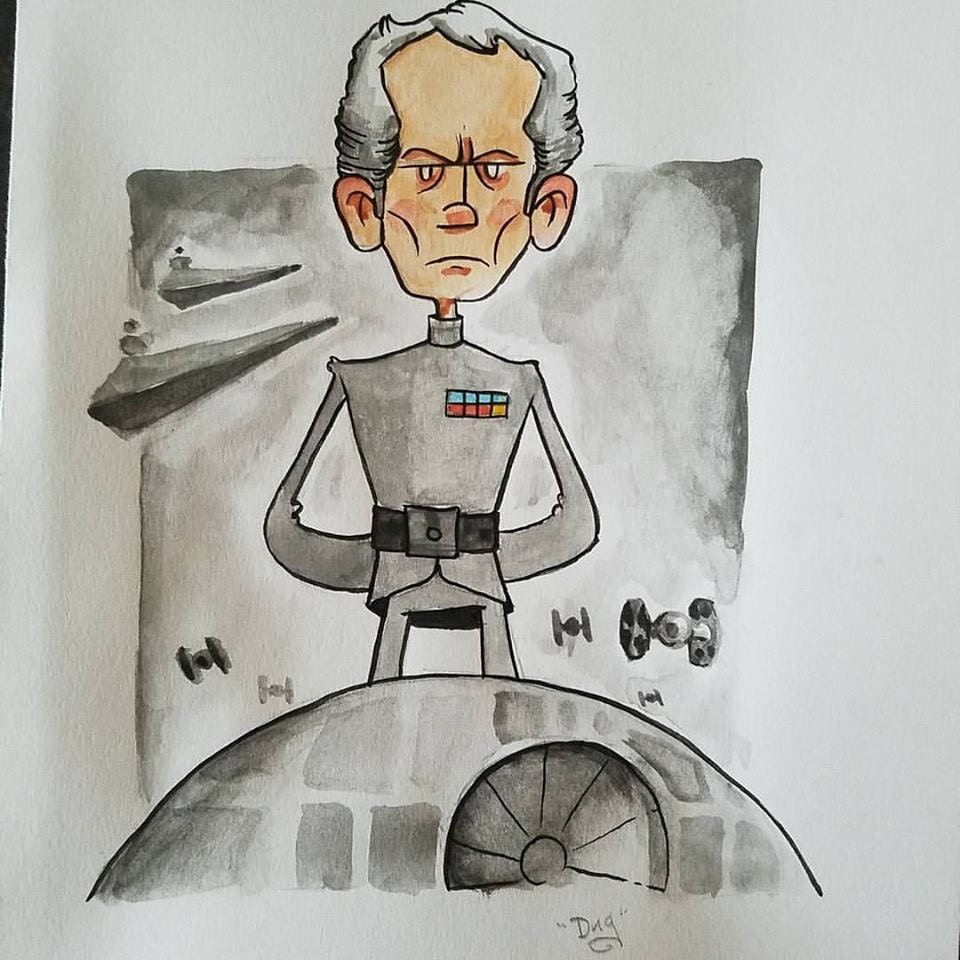 Tarkin! Water color illustration